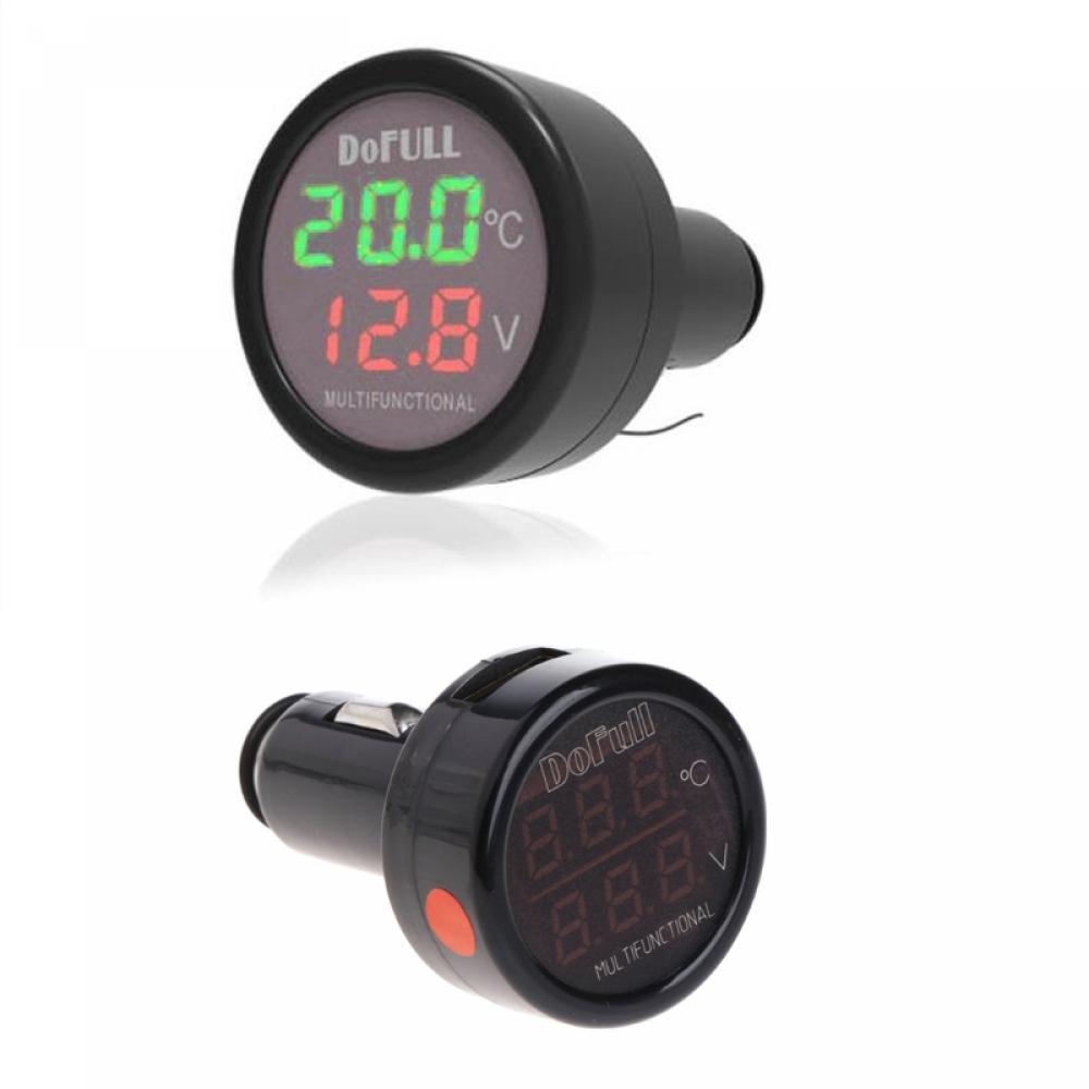 Термометр Вольтметр USB-зарядка