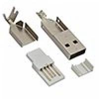 Штеккер USB-A металл