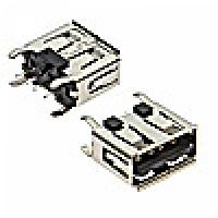 Гнездо USB-A-1JS на плату