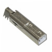 Штеккер USB-B металл на кабель
