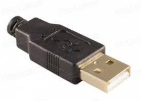 Штеккер USB-A на кабель