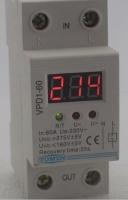 Устройство защиты по напряжению 230 В 60 А с вольтметром